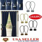 Kyпить 2/4/6/8PC Magnetic Window Curtain Tie backs Strong Ball Buckle Rope Holdbacks US на еВаy.соm