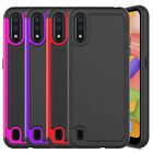 For Samsung Galaxy A01 Phone Case Shockproof Hybrid Rugged Rubber Armor Cover