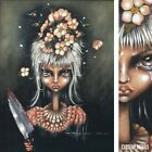 """26W""""x32H"""" SINGLE AGAIN by ANGELINA WRONA - LADY BLOODY KNIFE - CHOICES of CANVAS"""