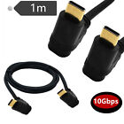 USB 3.1 Type C Male to C Male UP/Down Angle Charger Data Adapter Connector Cable