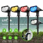 LITOM 12LED Outdoor Solar Powered LED Spot Lights IPX7 Garden Walkway Yard Lamps