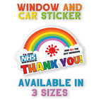 Rainbow Window / Wall Sticker Thank You Nhs And Key Workers Charity Decal