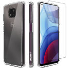 For Motorola Moto G Power 2020 Case Slim Clear Tpu Cover/glass Screen Protector