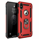Anti-Drop Hybrid Magnetic Ring Holder Hard Armor Case for iPhone X Xr 11 Pro Max