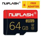 Micro SD Card NUIFLASH 64GB With Free Card Reader New Class10 Lot Real Capacity