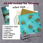DIY KIT  Fabric reusable washable face masks Scooby Doo fabric with a Tan back
