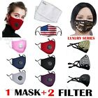 Kyпить 1 Reusable Face Filter Mask Protection Activated Carbon Mask W/ 2 Filters PM2.5 на еВаy.соm