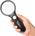 3 LED Light 45X Handheld Magnifier Reading Magnifying Glass Lens Jewelry Loupe
