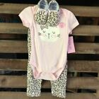 NWT Baby Girl Cutie Pie 3 Piece Outfits Pants/Booties Pink Camouflage CR18-19