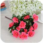 2 bunches of Artificial Flowers Bulk Indoor Outdoor Azalea Bushes UV Resistant