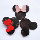 Flower Floral Mouse Head Bowtie Micke Keychain Pendant Bag Charm for Backpack