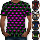 Hypnosis 3D T-Shirt Men Women  Colorful Print Casual Short Sleeve Tee Tops; image