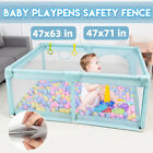 Baby Safety Playpen Fence Kid Play Center Yard Play Pen Indoor Outdoor Home Game