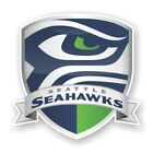 Seattle Seahawks Shield Decal / Sticker Die cut Logo Vinyl Football $11.45 USD on eBay