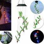 Solar Color Changing LED Hummingbird Wind Chimes Christmas Garden Light Lamp