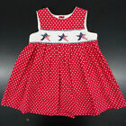 Infant Toddler Girls Carriage Boutique Patriotic Smocked Dress Sizes 3T