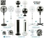 ZYBUX - Fans Stand Desk USB Oscillating Black & White Various Size Electric Fans