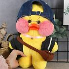"12"" Lalafanfan Cafe Mimi Yellow Duck Costume Plush Toy Doll Kid birthday Gifts"