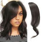 Clip in Wave Side Bangs 100% Human Hair Fringe Front Bangs Peice Hair Extensions