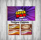 Personalised Father's Day Chocolate Bar - Custom Wrapper - Super Dad - Daddy