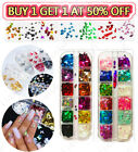 Kyпить Fashion 3D Laser Butterfly Sequins Nail Art Flakes Glitter Foil Decoration New на еВаy.соm