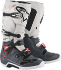 Alpinestars Tech 7 MX Dirt Boots Lt Grey Dk Grey Red