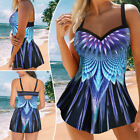 Two Piece Women Swimsuits Swimwear Bathing Suit Swim Dress+Swim Briefs Swim Set