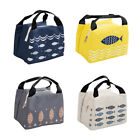 Portable Lunch Bag Waterproof Thermal Insulated Cartoon Fish Bento Handbags $s1