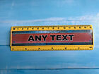 Personalised 15cm ruler - School Company Office - 6 colours - Any Name - Warning