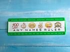Personalised 15cm ruler - School Company Office - 6 colours - Emoji images
