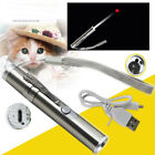 USB Charging Red Laser Pointer Pen 3 in 1 Cat Pet Toy Rechargeable UV Flashlight