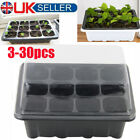 3-30 Pack 12 Cells Seed Trays Inserts Full Size Trays Bedding Plant Pack w/ Lids