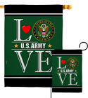 US Army Love Garden Flag Armed Forces Small Decorative Gift Yard House Banner