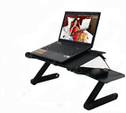 Portable Adjustable Aluminum Laptop Desk Stand Table Vented Ergonomic TV Bed new