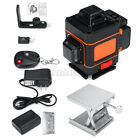 4D 16/ 3D 12 Line Green Laser Level Auto Self-Leveling 360° Rotary Cross Measure