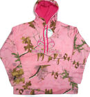 Realtree Performance Pullover Fleece Camouflage Hoodie Womens L XL Pink New NWT