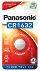 PANASONIC CR1632 CR 1632 ECR1632 DL1632 Lithium Battery Coin Cell Use By 2029