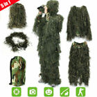 3D Ghillie Suit Hunting Camo in Woodland & Dry Grass 4PCS Hunting Ghillie +Bag