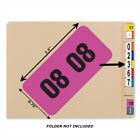 Bar Tab Labels 270 Color Coded Bar-Style Labels For File Folder End Tabs - Year