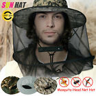 Anti-Mosquito Bug Fly Insect Head Net Hat Cap Sun Protection Fishing Beekeeping
