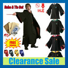 US Harry Potter Hogwarts Adult Child Robe Cloak Scarf Halloween COS Costumes