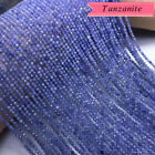 "AAA Natural High Quality Faceted Tanzanite Beads Gemstone 15.5"" Strand 2mm-4mm"