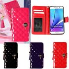 Maxi Quilting Wallet Case for Samsung Galaxy S20 S20+ S20 Ultra / S10 S9 S8 S7