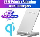 Qi Wireless Fast Charger Charging Stand Pad Dock for Samsung iPhone Android LG