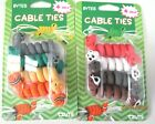 BYTES CABLE TIES..4 PACK..CHOICE OF TWO DESIGNS