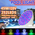 12V 45W/35W RGB LED Bulb Swimming Pool Spa Light for Pentair Hayward +Remote $48.98 USD on eBay