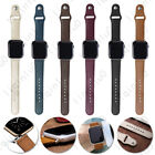 For Apple Watch Band series 1 2 3 4 5 Hand-Stitched iWatch Real Leather Strap  image