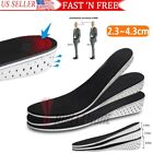 US Men Women Invisible Height Increase Insoles Heel Lift Taller Shoe Inserts Pad