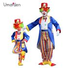 Halloween Carnival Party Costumes Dad Son Circus Clown Costume Cosplay Kids Men