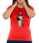 Bride Girl With A Gasmask Cold War Themed Crew Neck Women's T Shirt